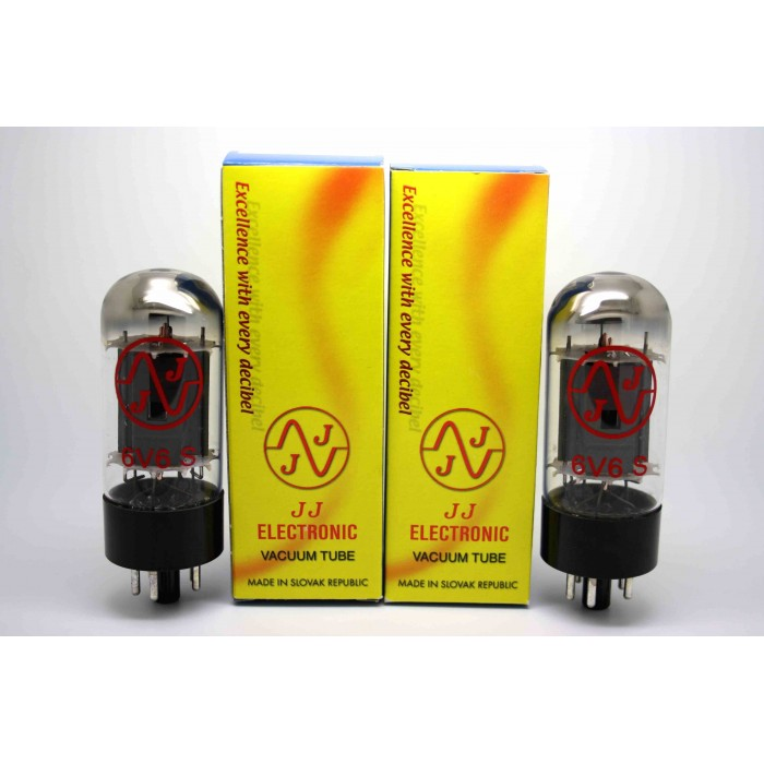 NEW JJ TESLA 6V6S MATCHED PAIR VACUUM TUBE AMP TESTED