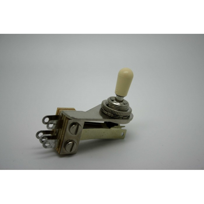 Detalles de  SWITCHCRAFT ANGLE TOGGLE SWITCH 3 WAY PICKUP AND IVORY TIP CAP FOR GIBSON FENDER