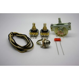 FENDER TELECASTER STANDARD WIRING KIT WITH SPRAGUE ORANGE DROP 0.022uf