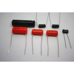 CAPACITOR KIT FOR FENDER CHAMP-AMP 5E1 MODEL - CAP JOB - F&T SPRAGUE ORANGE ATOM
