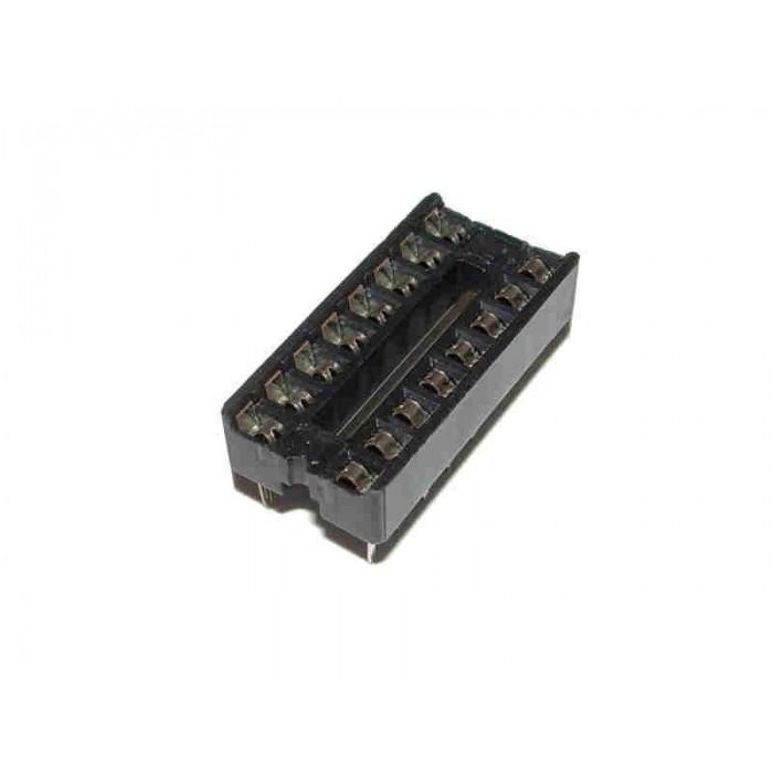 "5x ZOCALOS DIP16 PCB IC SOCKET DIL/DIP-16 7.62mm 0.3"""