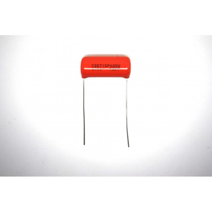 SPRAGUE ORANGE DROP 715P CAPACITOR 0.047uF 600V