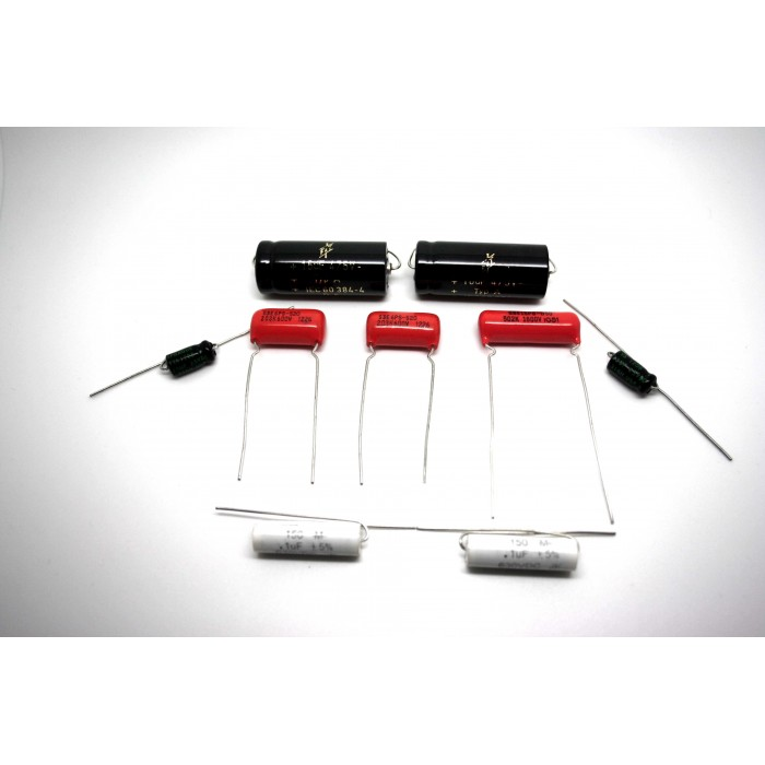 CAPACITOR KIT FOR FENDER HARVARD 5F10 MODEL TUBE AMP - AMPLIFIER - AMPLIFICADOR