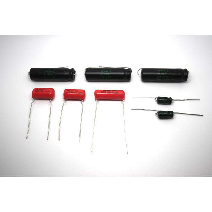 CAPACITOR KIT FOR FENDER PRINCETON 5E2 MODEL TUBE AMP - AMPLIFIER
