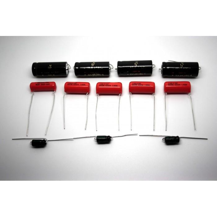 CAPACITOR KIT FOR FENDER SUPER-AMP 5C4 MODEL TUBE AMP - AMPLIFIER