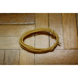 1 Mt WHITE GUITAR ELECTRIC 22 AWG VINTAGE CLOTH COVERED WIRE - CABLE INTERNO PARA GUITARRA O BAJO