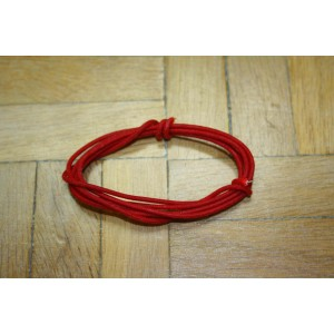 1 Mt RED GUITAR ELECTRIC 22 AWG VINTAGE CLOTH COVERED WIRE - CABLE INTERNO PARA GUITARRA O BAJO