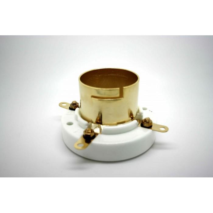 TUBE SOCKET 4 PIN GOLD PLATE JUMBO CERAMIC BAYONET FOR 211 AND 845 VACUUM TUBE