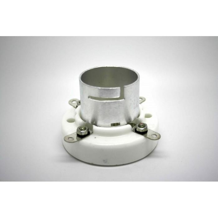 TUBE SOCKET 4 PIN CHROME JUMBO CERAMIC BAYONET FOR 300B AND 811 VACUUM TUBE