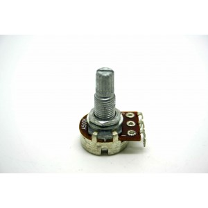 MINI POT POTENTIOMETER SPLIT SHAFT 500K AUDIO LOG 16mm - POTENCIOMETRO GUITARRA