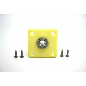 PLASTIC CREAM IVORY JACK PLATE & SOCKET FOR GIBSON EPIPHONE LES PAUL