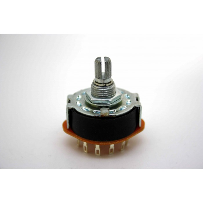 ALPHA ROTARY SWITCH 2 POLE 6 POSITIONS 15mm KNURLED SHAFT FOR VARITONE FILTER