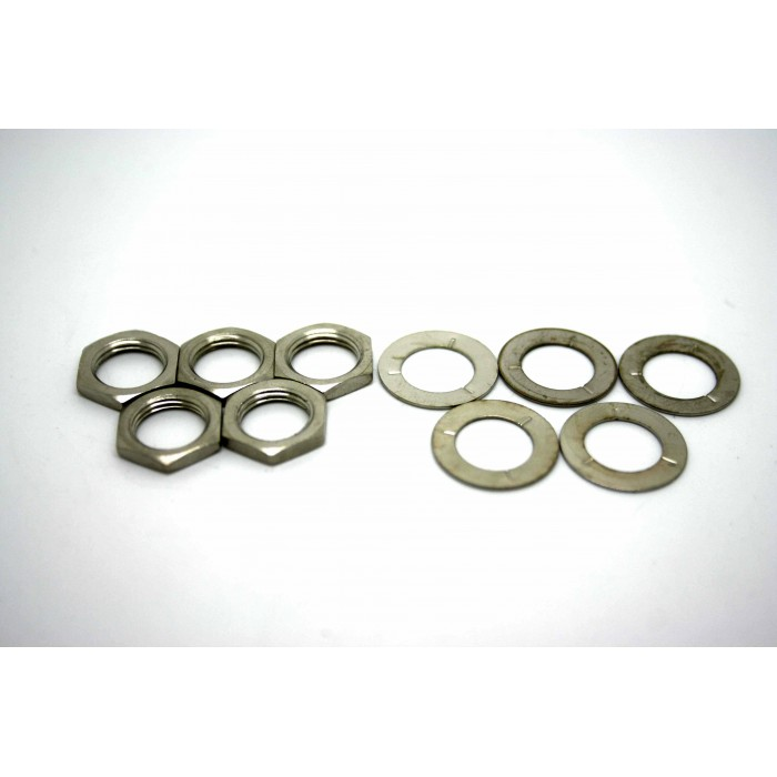 5x ORIGINAL NUTS AND WASHERS FOR SWITCHCRAFT JACKS AND AMERICAN POTENTIOMETERS