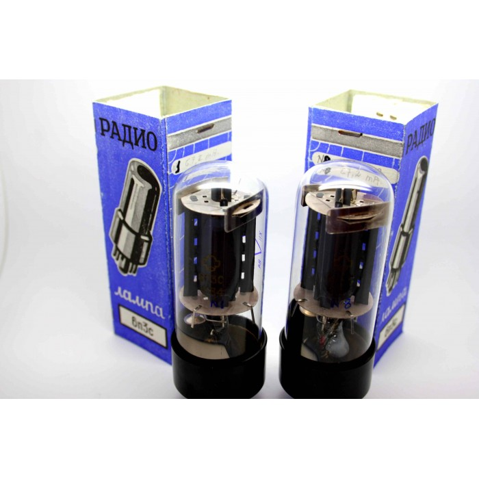 REFLECTOR 6п3с 6P3S 6L6GT 6L6 STRONG MATCHED PAIR VACUUM TUBES
