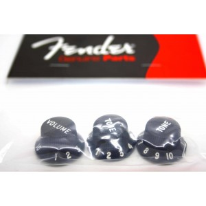 GENUINE FENDER BLACK KNOBS FOR STRATOCASTER - 0991365000