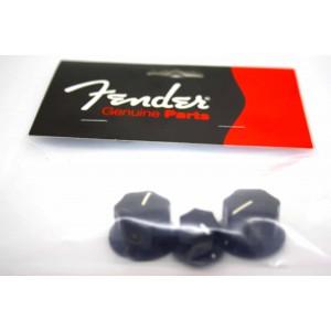 GENUINE FENDER BLACK KNOBS FOR JAZZ BASS - 0991370000