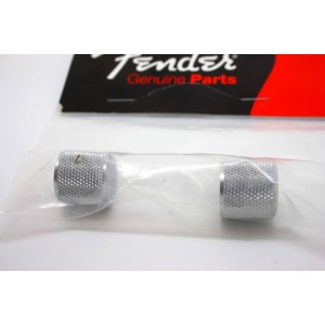 GENUINE FENDER BARREL CHROME DOME KNOBS FOR TELECASTER PRECISION BASS 0991366000