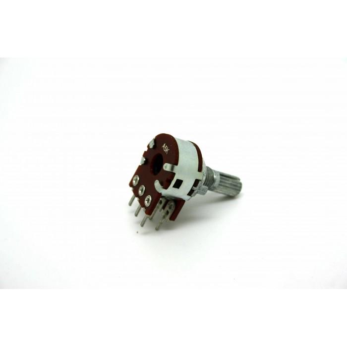 MINI DUAL POTENTIOMETER ALPHA A5K 5K 16mm LINEAR PC MOUNT