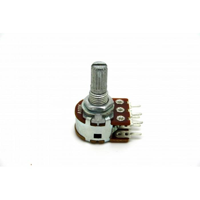 MINI DUAL POTENTIOMETER ALPHA A100K 100K 16mm LOGARITHMIC PC MOUNT
