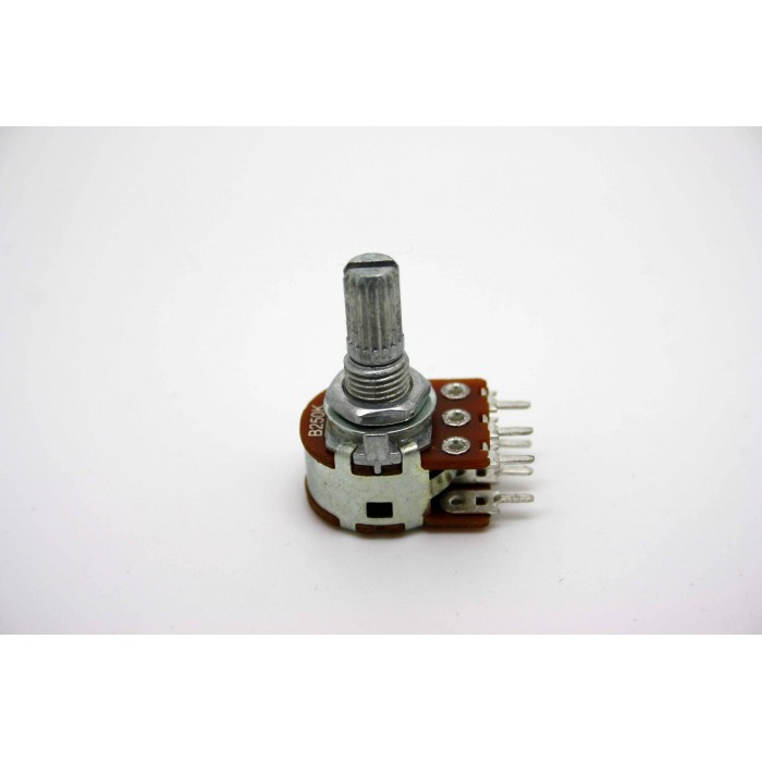 MINI DUAL POTENTIOMETER ALPHA B250K 250K 16mm LINEAR PC MOUNT