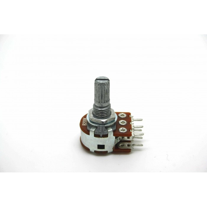 MINI DUAL POTENTIOMETER ALPHA B200K 200K 16mm LINEAR PC MOUNT