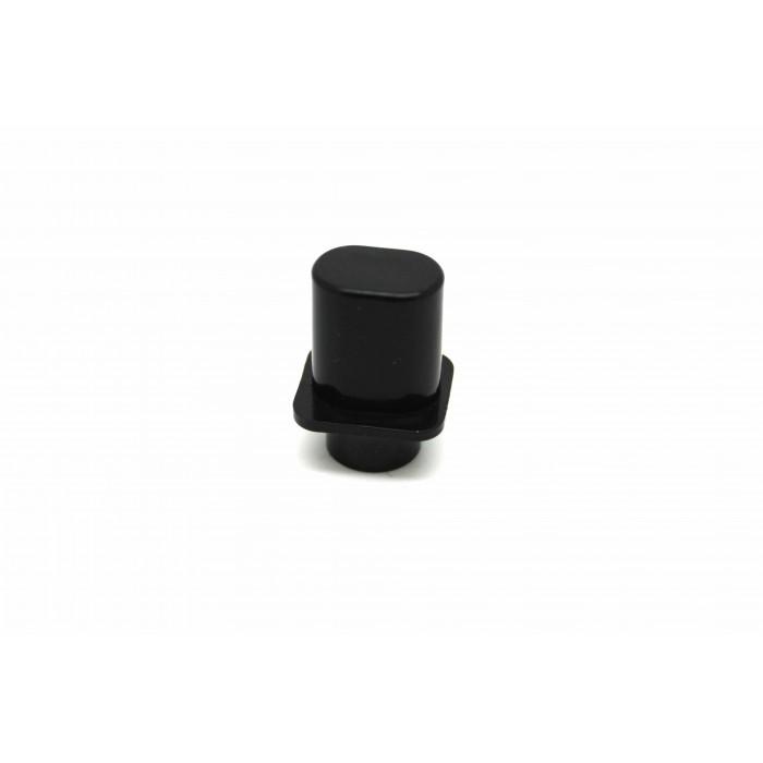 BLACK KNOB TOP HAT STYLE FOR FENDER TELECASTER - FIT CRL OR OAK GRIGSBY USA