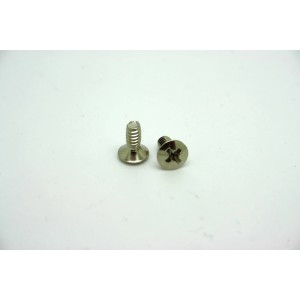 2x CHROME SCREWS 6/32 INCH THREAD FOR CRL AND OAK GRIGSBY PICKUP SELECTOR