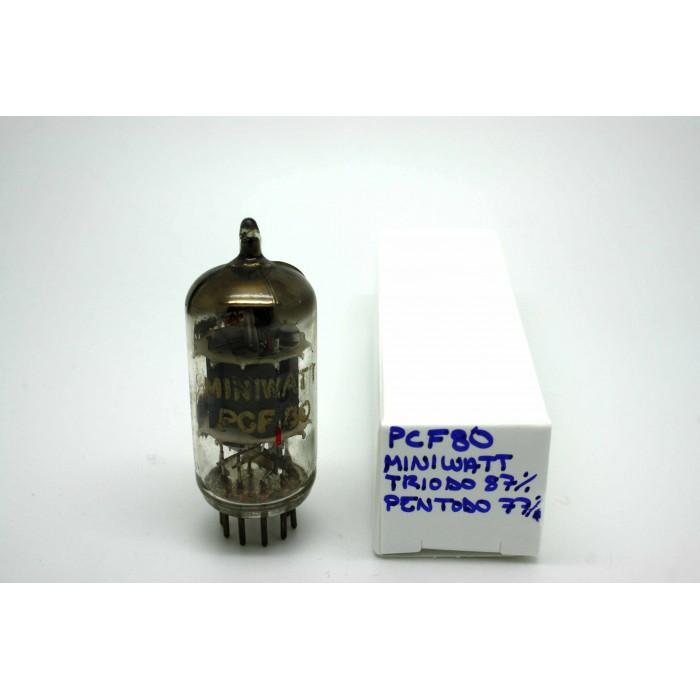 MINIWATT PCF80 9A8 LN329 8A8 VACUUM TUBE - MICROTRACER TEST!