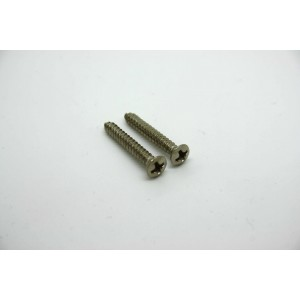 2x CHROME STRAP BUTTON SCREWS FOR BASS OR GUITAR