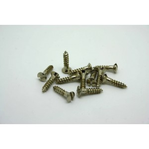 12x CHROME SLOT HEAD PICKGUARD SCREWS VINTAGE STYLE