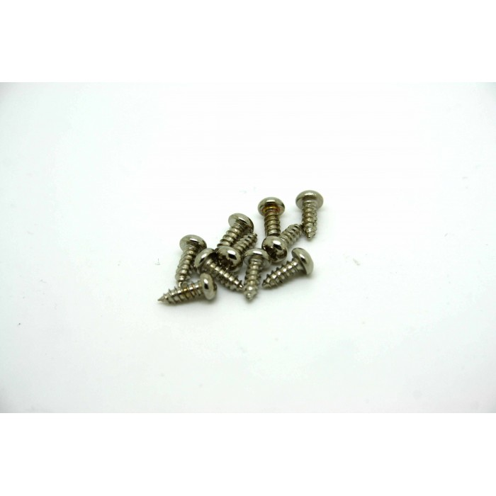 10x CHROME SCREWS FOR GIBSON LES PAUL OR EPIPHONE TRUSS ROD COVER