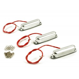 KENT ARMSTRONG JACK KNIFE - METAL STRAT PICKUP SET - CHROME