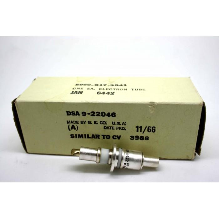 GENERAL ELECTRIC JAN 6442 CV3988 PLANAR TRIODE ELECTRON TUBE