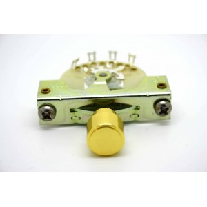 CRL 3-WAY PICKUP SELECTOR SWITCH WITH GOLD KNOB BARREL