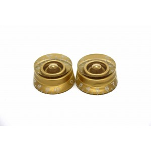 2x GOLD SPEED KNOB FOR GIBSON EPIPHONE STYLE - CTS OR BOURNS