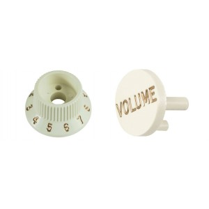 ORIGINAL PACK KNOB + CAP WHITE FOR FENDER S-1 SWITCH STRATOCASTER