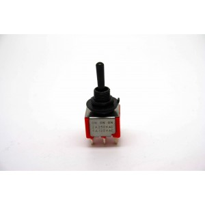 MINI BLACK TOGGLE SWITCH DPDT ON-ON-ON FOR PHASE SWITCHING AND COIL TAPPING