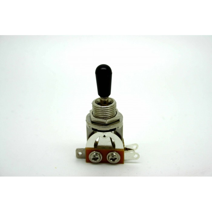 3 WAY CHROME TOGGLE SWITCH AND BLACK TIP FOR GIBSON EPIPHONE LES PAUL & SG