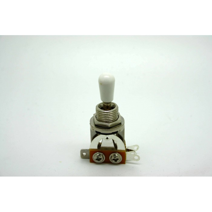 3 WAY CHROME TOGGLE SWITCH AND WHITE TIP FOR GIBSON EPIPHONE LES PAUL & SG