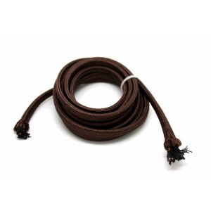 2 METERS 6.56FT BROWN PARALLEL POWER CORD CLOTH WIRE FOR OLD RADIO VACUUM TUBES