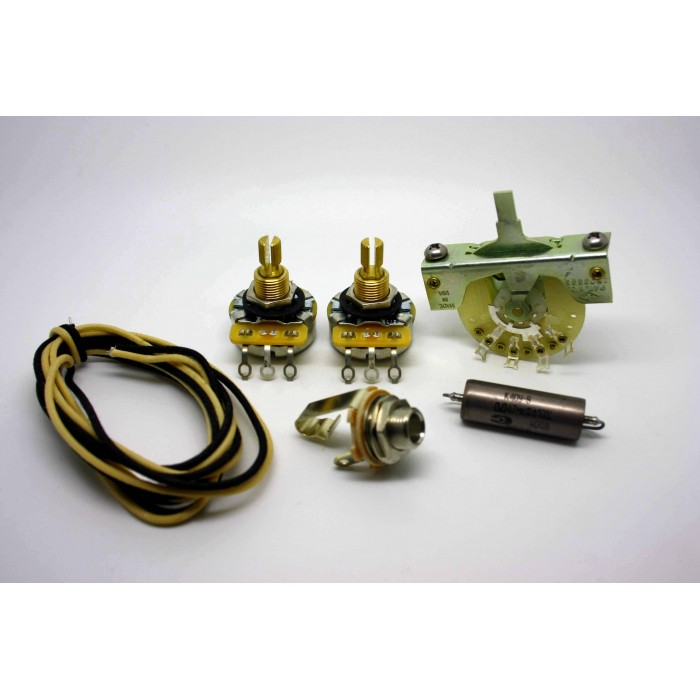 FENDER TELECASTER STANDARD WIRING KIT WITH PIO CAPACITOR K40Y-9 0.047uF .047uF