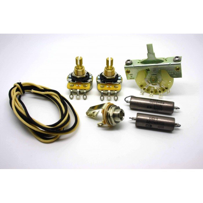 FENDER TELECASTER SUPER WIRING KIT WITH SOVIET K40Y-9 0.047uf & 0.022uF CAPACITORS