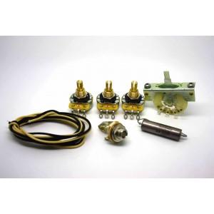 FENDER STRATOCASTER STANDARD WIRING KIT - CTS 250K OR 500K & 0.022uf K40Y-9