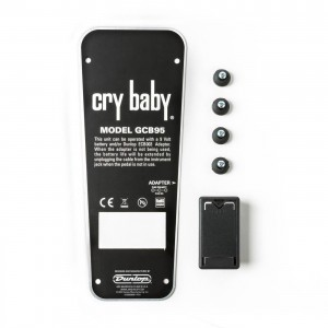 DUNLOP CRYBABY GCB95 BOTTOM PLATE WITH BATTERY BOX & RUBBER FEET - ECB152C
