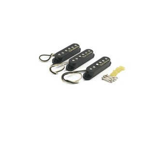 KENT ARMSTRONG HANDWOUND SINGLE COIL-TRISONIC PICKUP SET - BLACK