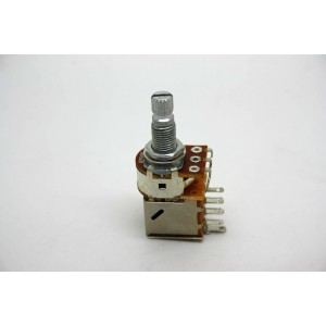 POTENTIOMETER A250K 250K LOGARITHMIC PUSH/PULL KNURLED SHORT SHAFT - METRIC