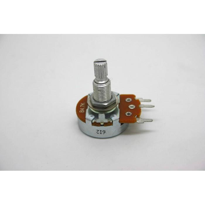 POTENTIOMETER 4.7K B4.7K 24mm LINEAR ORIGINAL FOR MARSHALL AMPLIFIER PC MOUNT