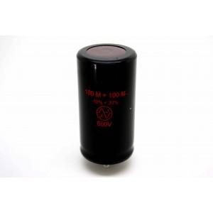 JJ 100UF/100UF 500V DUAL CAPACITOR FOR AMPLIFIER TUBE AMP