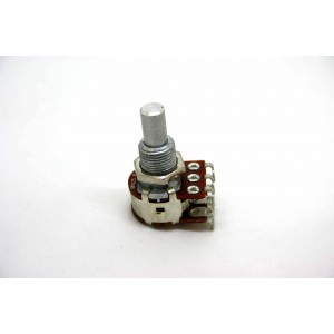 BOURNS 25K DUAL SOLID SHAFT POTENTIOMETER BLEND / BALANCE CENTER DETENT MN25K