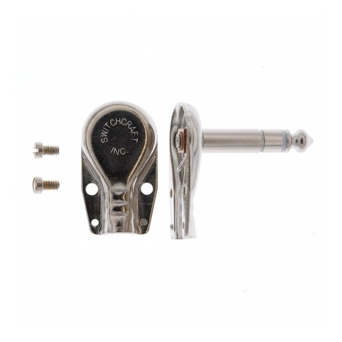 """SWITCHCRAFT 228 6.35mm 1/4"""" RIGHT ANGLE JACK CONNECTOR EFFECT PEDAL"""